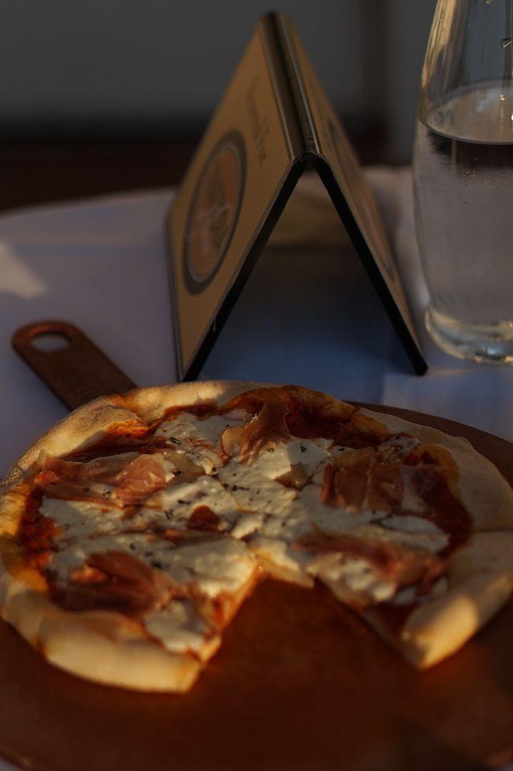 Trattoria al Forno Prosciutto Potato Rosemary and Mozzarella Pizza