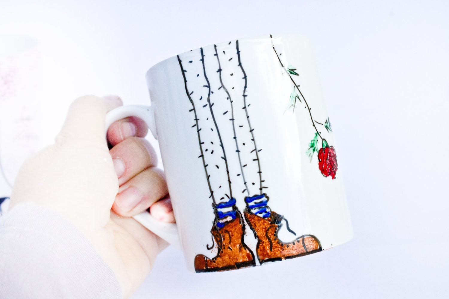 Guy Mug - Painted mug - Ceramic Cup