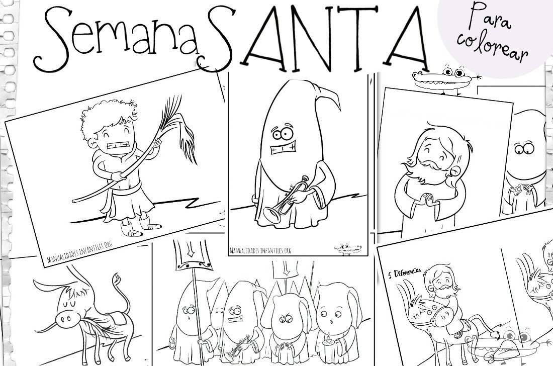 Dibujos De Semana Santa Actividades Para Niños Manualidades