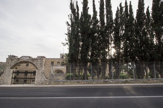 The Beit Al-Baraka church compound on Route 60. (Photo: Sara Anna)