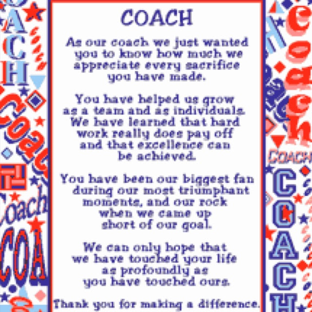Thank You Coach Quotes Sayings Quotes