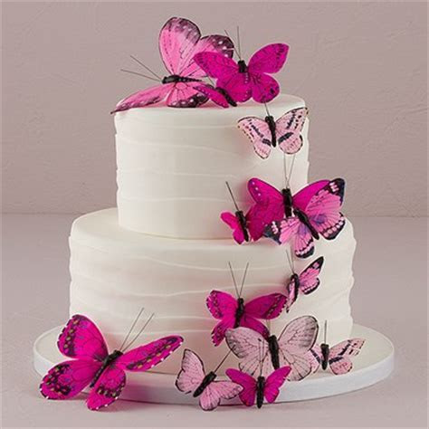 Butterfly Cake Decorations   Set of 24   The Knot Shop