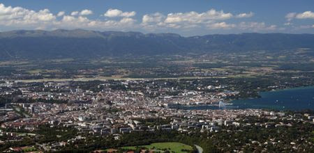 Panorama of Geneva from Le Saleve