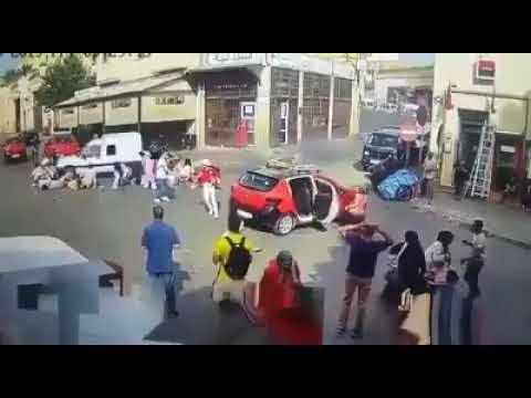 VÍDEO: Momento exacto del atropello de turistas por un vehículo en Marruecos