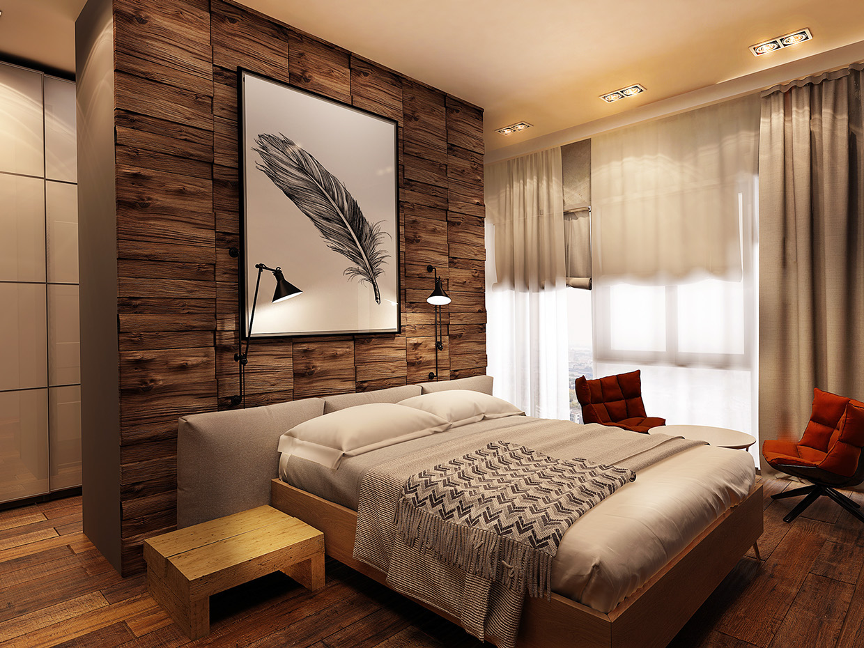 cool-wood-accent-wall | Interior Design Ideas.