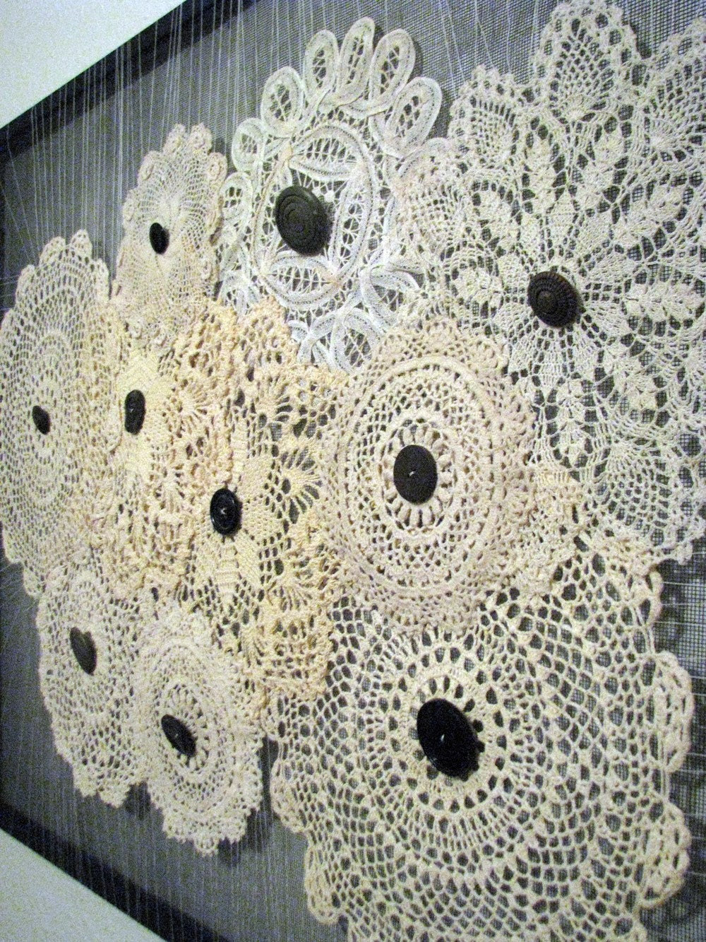 Vintage Doily Wall Art by MadeByMEH on Etsy