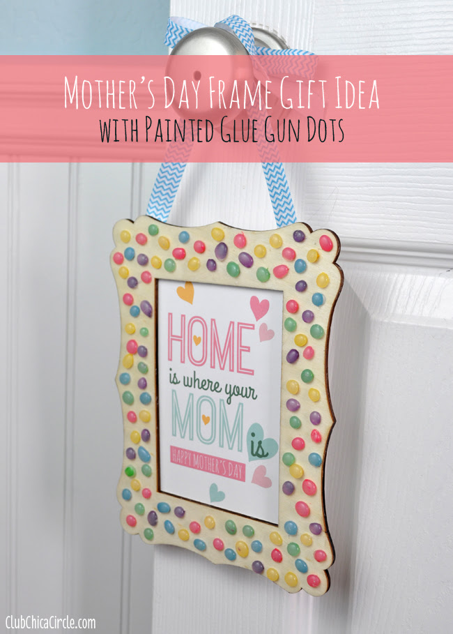 Mothers Day Frame With Homemade Enamel Dots Free Printable Mom