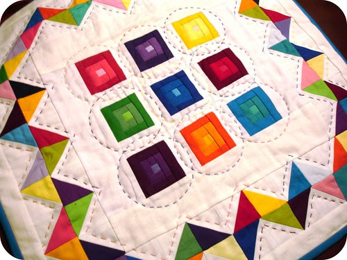 DQS10 Sent - A Cacophony of Color by A Blond Quilts