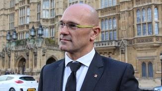El conseller Raül Romeva, davant el Parlament britànic (ACN)