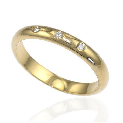 3mm Half Round Diamond Wedding Ring   Ethical Wedding