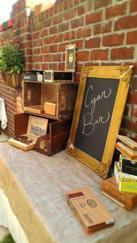 Cigar Bar Idea for Men!   Cigars   Pinterest   July wedding