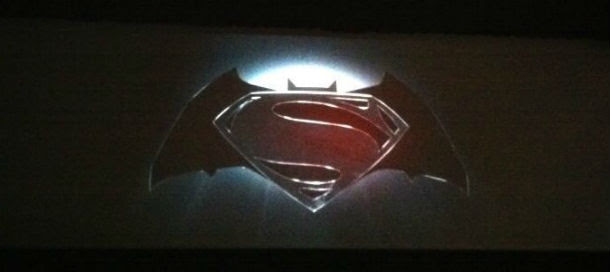 The Superman/Batman movie logo unveiled at SDCC.