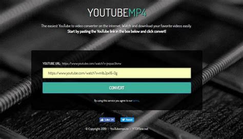 youtubemp  review step  open frontpage enter video url