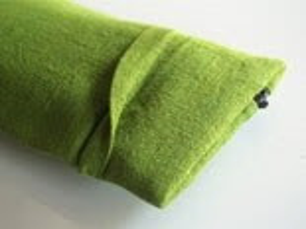 one pleat zip - dark kiwi