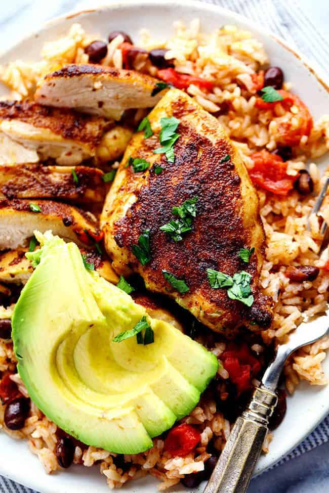 blackened cajun chicken with Rice