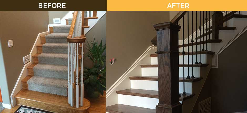 A Sophisticated Staircase Remodel Young Son Woodworks