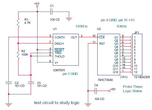 Schematics Of Delabs Frequency Divider 74hct4040