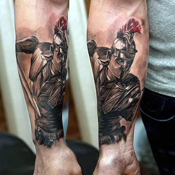 Valiant Gladiator Tattoo Designs (9)