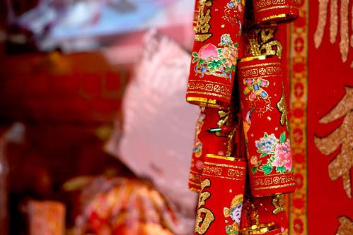 Chinatown red crackers