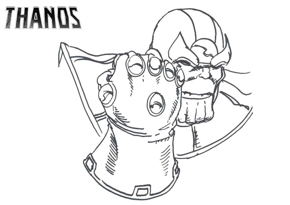 Coloring pages: thanos coloring pages infinity war