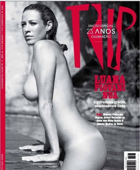 """Luana Piovani na edição especial de 25 anos da """"Trip"""" em 2011"""