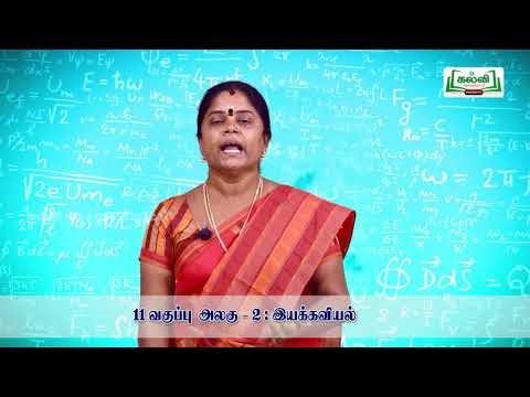 11th Physics இயக்கவியல் அலகு 2 பகுதி 2 Kalvi TV
