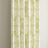 カーテン 北欧柄 セリーグリーン リーフ柄遮光カーテン (幅150cm×丈200cm2枚)