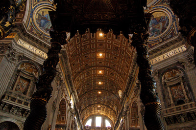 baldacchino and nave