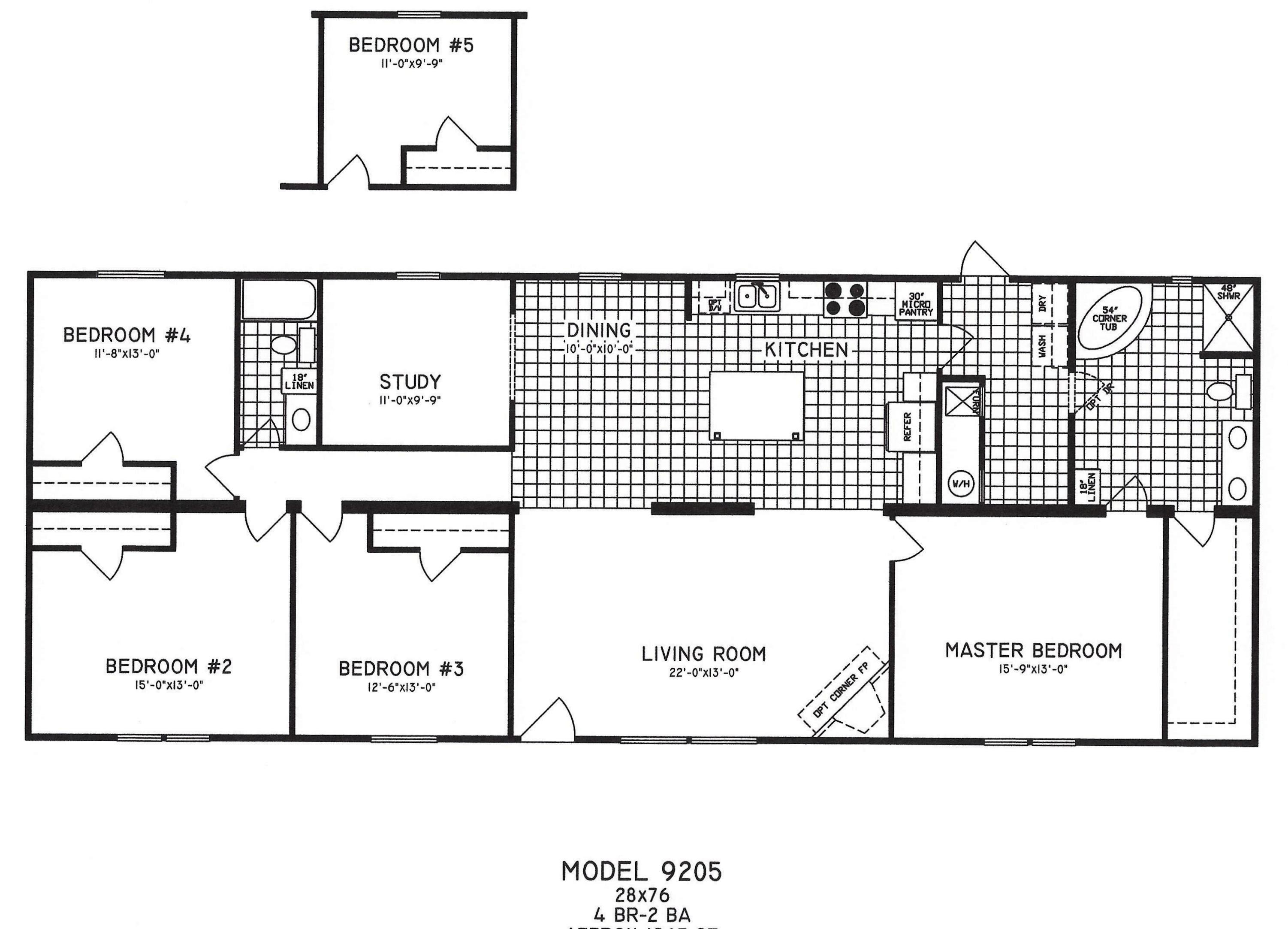 Top Photo of 4 Bedroom Mobile Home Floor Plans | Kristen ...