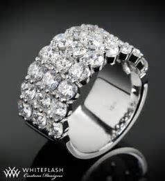 Three Row Diamond Wedding Band   9804