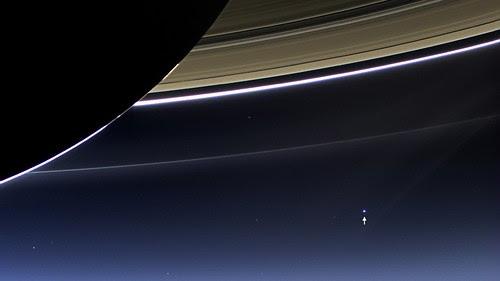 View of Earth from Saturn [annotated] by NASA Goddard Photo and Video