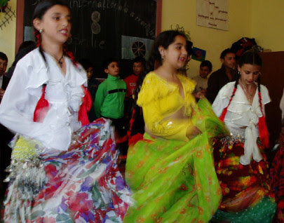 Gypsy women dancing in their traditional dress. The Roma are a persecuted people in Europe. by Pan-African News Wire File Photos