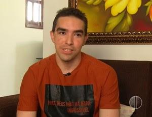Paulo Júnior - atacante ex-Salgueiro e América-RN (Foto: Reprodução/Inter TV Cabugi)