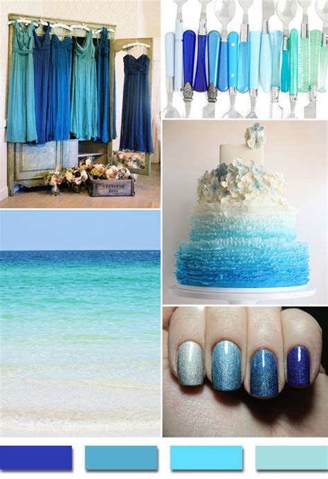 Popular Summer/Beach Wedding Color Palettes 2014 Trends