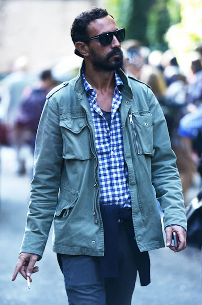 Get This Look: Barbour Jacket & Gingham Shirt