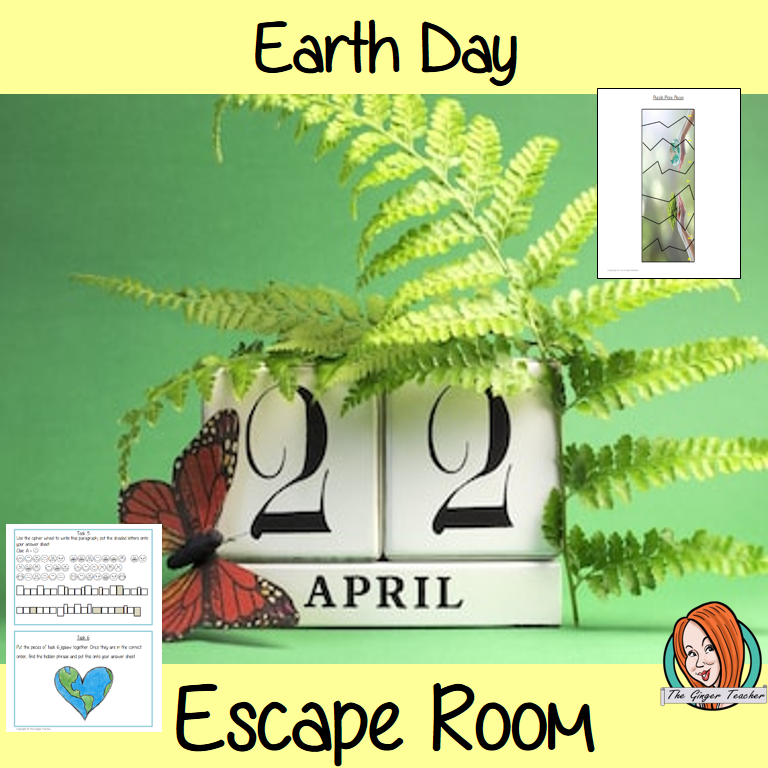 Earth Day Escape Room Game - The Ginger Teacher
