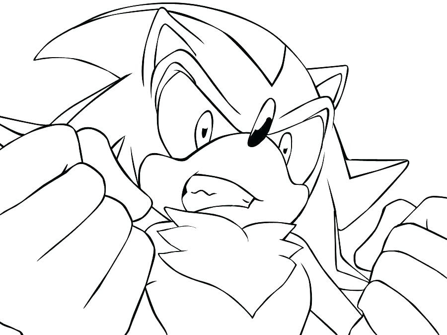 Super Sonic And Super Shadow Coloring Pages At Getdrawingscom