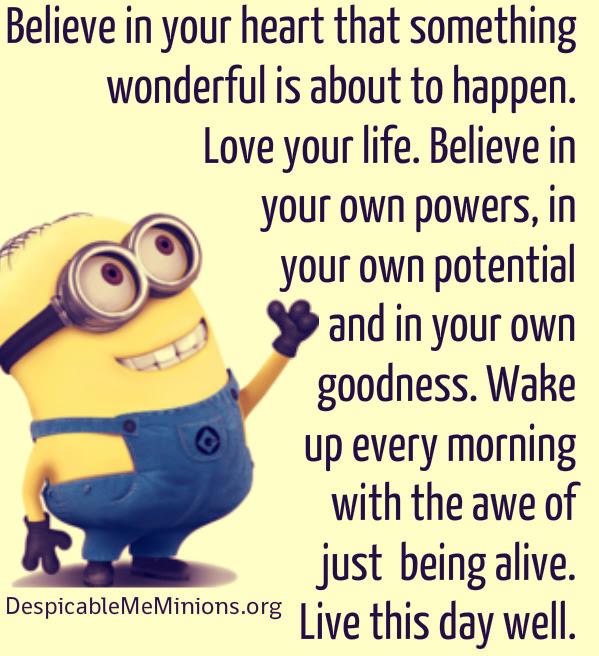 Minion Quotes Inspirational. QuotesGram