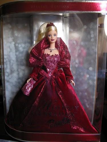 The Barbie Blog Day 14 Blissful Burgundy 2002 Holiday Celebration Barbie