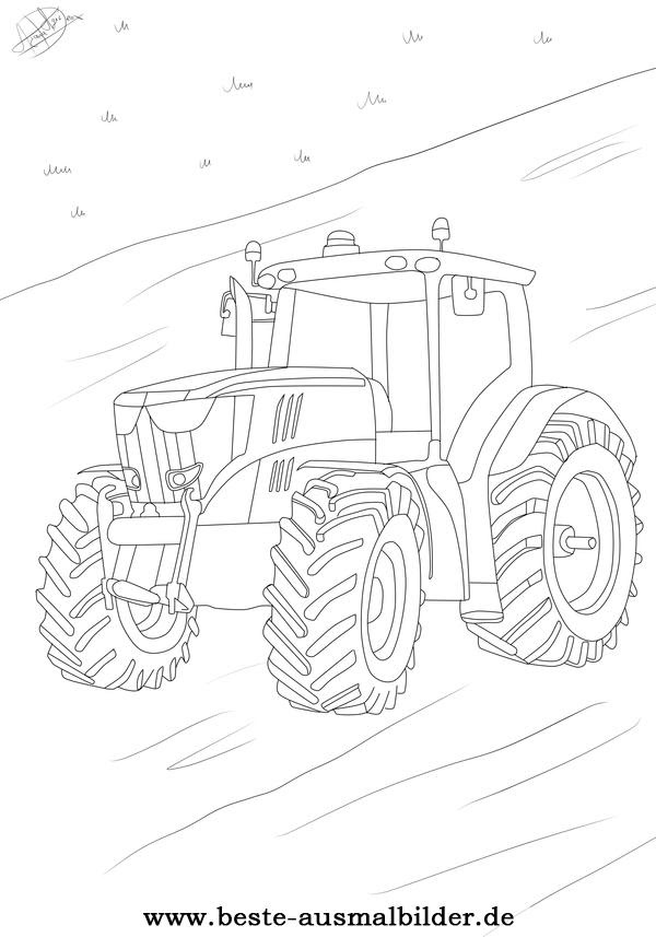 Traktor Ausmalbild Ausmalbilder Von Autos Und Fahrzeugen Fur Kinder