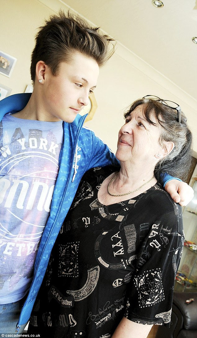 Macenzie Campbell with his grandmother Kate who was was terrified she was going to loose her grandson