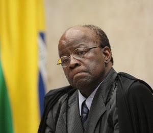 No último dia do julgamento, Joaquim Barbosa protagonizou novo bate-boca (Foto: Divulgação/STF)