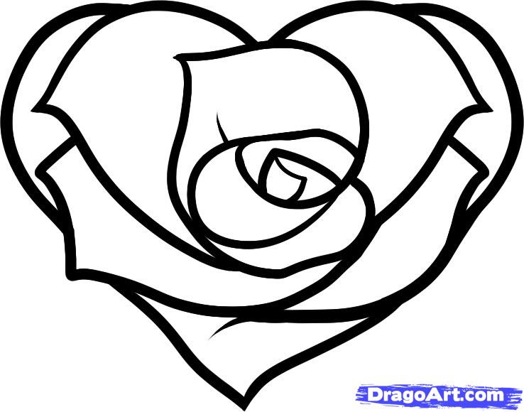 Free Hearts And Roses And Stars Drawings Download Free Clip Art