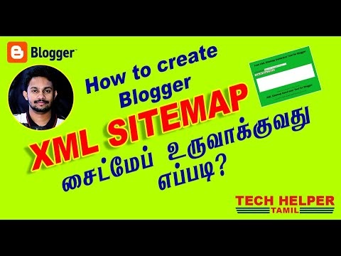 How to Create XML Sitemap for Blogger in Tamil • Tech Helper Tamil