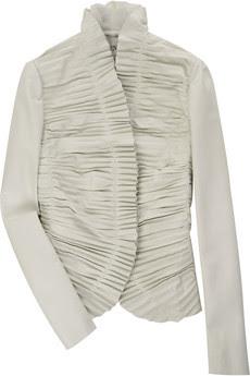 ValentinoRuffled-leather jacket