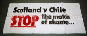 14 June 2014, Playing Politics, Chile Solidarity Campaign banner @ People's History Museum