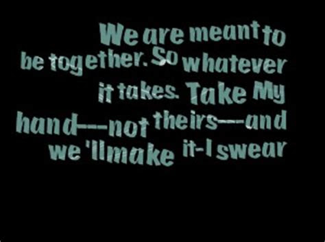 We Not Meant Together Quotes