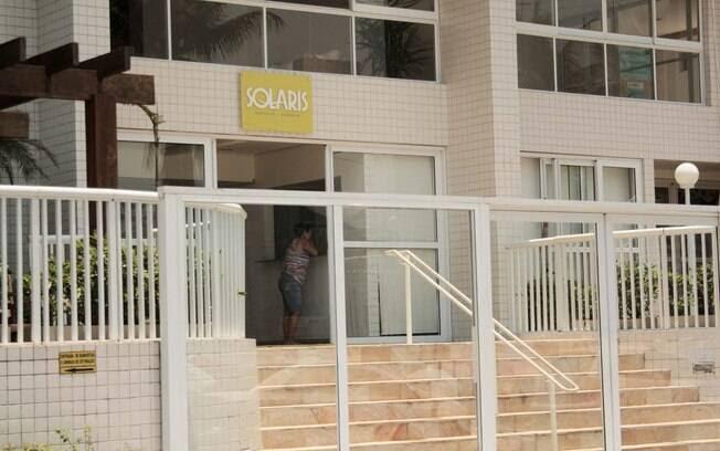 Entrada do Condomínio Solaris, no Guarujá, Litoral Sul de São Paulo