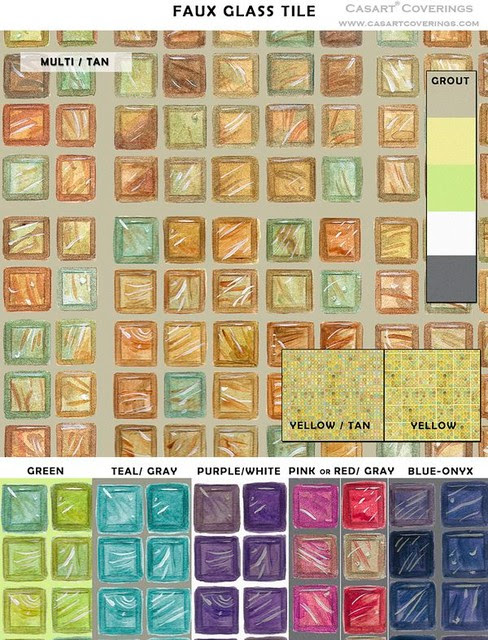Removable and Reusable Faux Glass Mosaic Tile - Eclectic ...