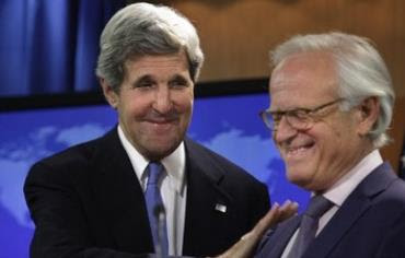US Secretary of State John Kerry and Martin Indyk